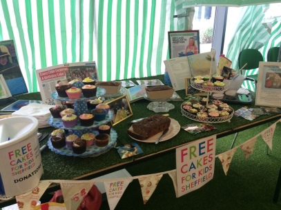 Cake stall at Skipton in 2015