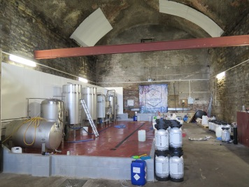 Views inside Iain's brewery